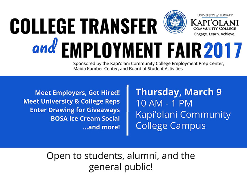 2017 College Transfer and Employment Fair