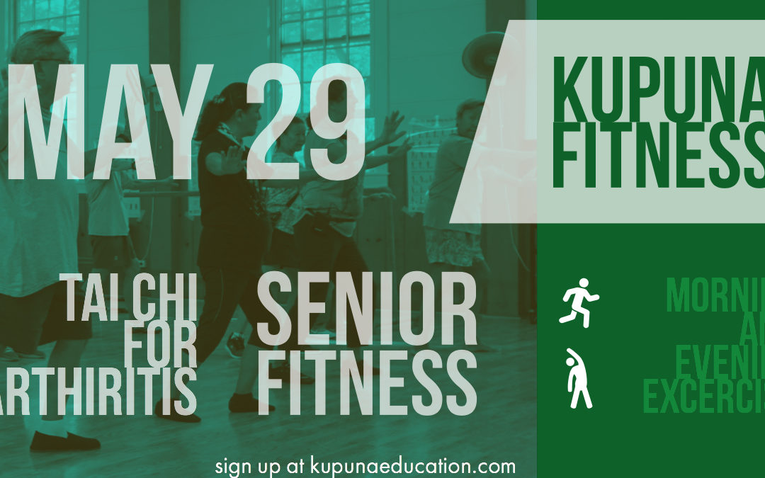 Just a few seats left in Senior Fitness & Tai Chi for Arthritis