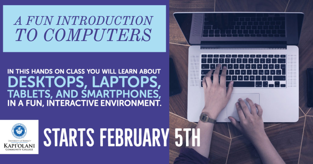 """A Fun Intro to Computers Course"" has a few seats left !!"