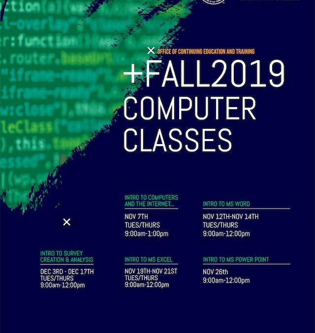Upcoming Computer Classes