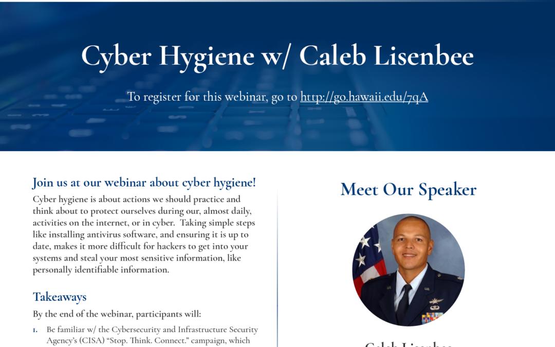 Kaiāulu Webinar Series: Cyber Hygiene